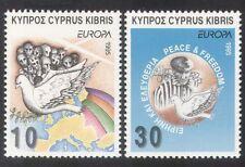 Cipro 1995 EUROPA/Pace/Libertà/colombe/PRIGIONIERO/mappa/Birds/NATURA SET 2v (n39093)