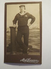Karlskrona - Matrose in Uniform - HMS Tapperheten - Portrait / CDV Schweden
