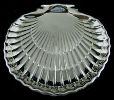 ABALONEY SHELL SHAPED STERLING SERVING DISH BY GORHAM CORP.