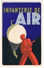 Original Postcard 1943 WW2 Infanterie De L'Air France France Libre