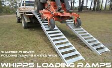 3 Metre Curved Folding Zero Turn Mower Loading Ramps Extra Wide