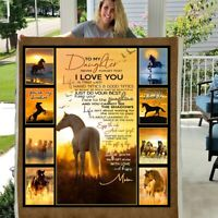 TO MY DAUGHTER NEVER FORGET THAT I LOVE YOU 3D Custom Fleece Photo Blanket Fan