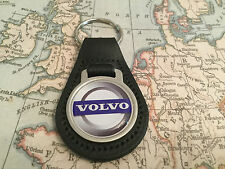 VOLVO Quality Black Real Leather Keyring 1