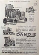 1925 AD(K5)~KOEHRING CO. MILW., WIS. KOEHRING DANDIE LIGHT CEMENT MIXER
