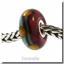 Authentic Trollbeads Glass 61163 Red China :1 RETIRED