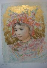 Thai Princess Artists Proof  Lithograph  by Edna Hibel