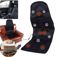 Heat Back Massage Chair Car Home Seat Cushion Massager Neck Pain Pad Heater Z