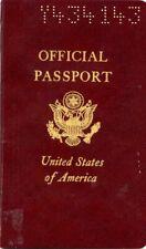 1966 U S Official Passport