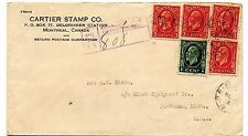 rEGISTERED 1933 Medallion issue 5 stamps to USA cover Canada