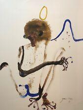 "JOHN OLSEN ""Monkey"" Signed, Limited Edition Digital Print 75cm x 100cm"