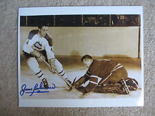 JEAN BELIVEAU MONTREAL CANADIENS  HOF AUTO 8x10 PHOTO