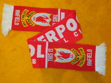 LIVERPOOL FOOTBALL CLUB SCARF #2 ~ SOCCER MENS WOMENS UNISEX ~ RED & WHITE ~ 53""