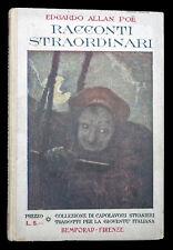 Racconti straordinari Allan Poe Edgardo Bemporad 1933