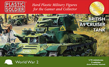 1/72nd BRITISH A9 CRUISER TANK - PLASTIC SOLDIER COMPANY - 20MM - WW2 -