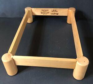 "Vintage Corning Ware Wooden Trivet 2221 WF Inside Dimensions 13-3/4"" X 9"""