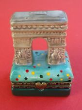Ceramic Pill or Trinket Box ~ Triumphal Arch (Arc de Triomphe) ~ Paris, FRANCE