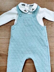 Baby boy 3-6 months John Lewis JoJo Maman Bebe blue dungaree set