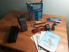 Midland 78-205 Radio VHF HT Radio Ham Marine Transceiver 121CH Box & Accessories