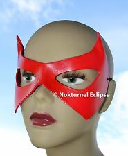 RED Robin Superhero Leather Mask Batman Batgirl Marvel Geek Halloween Costume