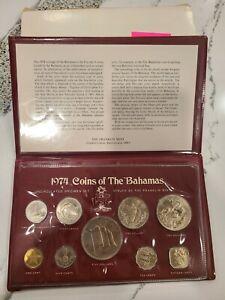 BAHAMAS 1974 Coins of the Bahamas UNC Specimen Set 9 Coins w/Case