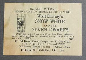 1920's Homemade Baking Co. Walt Disney's Snow White advertising