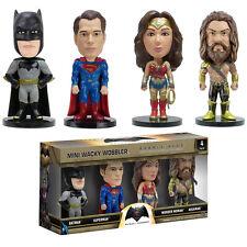 **BATMAN V SUPERMAN - MINI WACKY WOBBLER BOBBLE HEADS 4-PACK - BRAND NEW