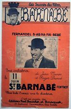 Partition alt partitur sheet music = Fernandel : Barnabé - Fox trot