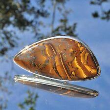 Tigerauge Ring, 925er Silber, Edelsteinring (21291), Edelsteinschmuck