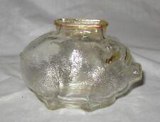 Anchor Hocking Clear Glass Piggy Bank
