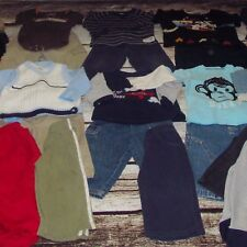 TODDLER BOYS CLOTHING LOT - WINTER - LONG SLEEVE- SIZE 18 MONTHS - PANTS TOPS +