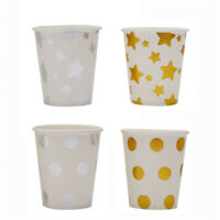 10pcs Foil Gold/Silver Paper Cups Disposable Cups Wedding Birthday Party Deco JR