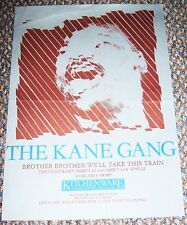 THE KANE GANG UK RECORD COMPANY PROMO POSTER 'BROTHER BROTHER' DEBUT SINGLE 1983