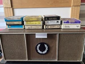 Vintage Stereo 8 Track Player Portable + Home Base Unit