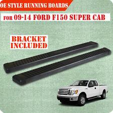 "Fit 09-14 FORD F150 Super Cab 6"" Running Board Nerf Bar Side Step Grey F"
