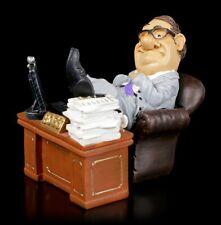 Funny Trabajo Figura - Boss en El Escritorio - Divertidos Chef Oficina Estatua