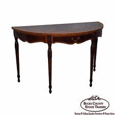 Maitland smith mahogany tables ebay maitland smith flame mahogany demilune console table gumiabroncs Choice Image