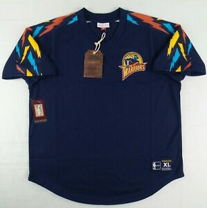 NWT Authentic Mitchell & Ness Golden Sate Warriors Jersey Size Mens Large L