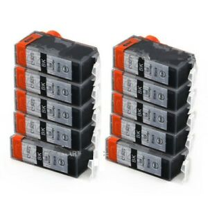 10X Black Non-OEM Ink Cartridges PGI525 for Canon MG5250 MG6100 MG6150
