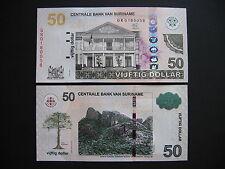 SURINAME  50 Dollars 2012  (P165b)  UNC