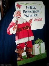 "COCA-COLA COKE 1970 CHRISTMAS SANTA (3 FT 9"") STANDEE"