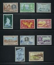 TONGA, QEII, 1953, eleven (11) stamps from set to 2s. value, MM, Cat £23.