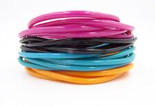 New 20 Piece Set of Black Teal Orange & Blush Colored Jelly Bracelets #B2011