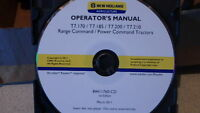 NEW HOLLAND BOOMER T7.170-210 TRACTOR OPERATORS MANUAL ON CD CD28