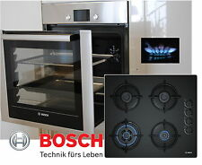 Gas Herd SET Bosch Herdset Autark Backwagen Backofen + GAS Glaskeramik Kochfeld