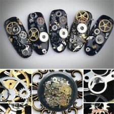 100PCS Gear Design Nail Art Decoration Metal Studs Manicure Tips Decor 3D UK