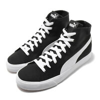 Puma Bari Mid Black White Gum Canvas Men Women Unisex Casual Shoes 373891-02