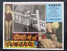 """SANTO VS EL ESTRANGULADOR"" MARIA DUVAL ALBERTO VAZQUEZ N MINT LOBBY CARD PHOTO"