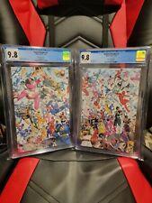 Power Rangers #1/Mighty Morphin #2 CGC 9.8 / Mora Connecting Variants