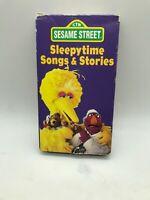 Sesame Street Bedtime Stories & Songs VHS 1986 Rare OOP CTW Sleepytime