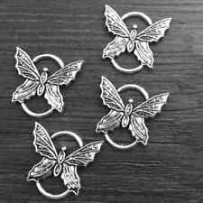 Ancient  Silver 6pcs Butterfly Connector Jewelry Findings,Charms,Pendants